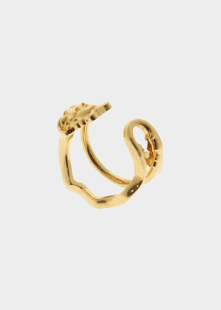 Versace Medusa Safety Pin Ring for Women | US Online Store