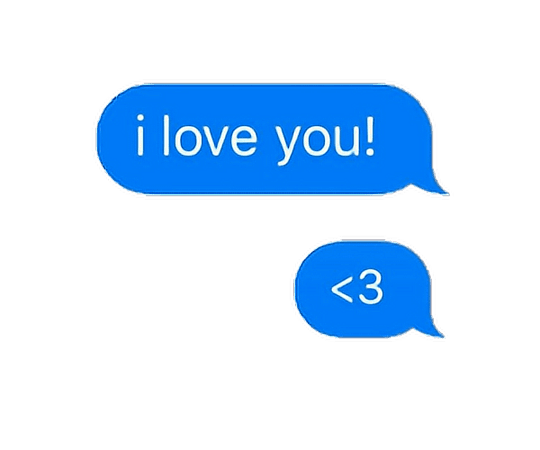 speechbubble ily iloveyou blue png text freetoedit...