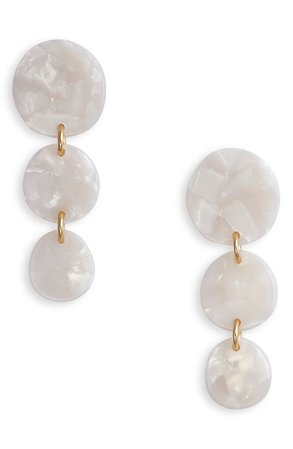 Halogen® Resin Disk Linear Drop Earrings | Nordstrom