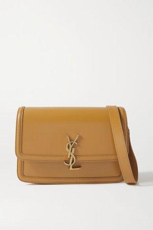 Solferino Medium Leather Shoulder Bag - Mustard