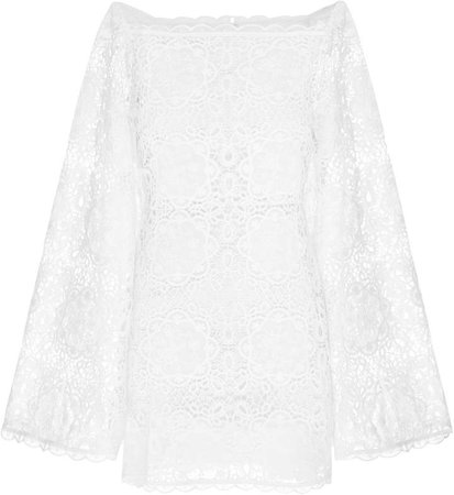 Diamond Veins Corded Lace Mini Dress