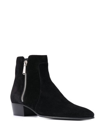 Balmain Suede Ankle Boots - Farfetch