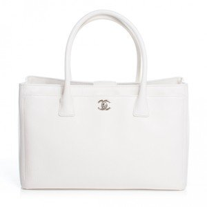 $3500 Chanel Classic Cerf White Caviar Leather Executive Tote Bag Purse - Lust4Labels