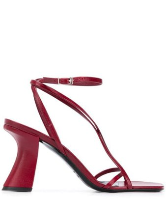 Red BY FAR Kersti 95mm sandals 20PFKRSBXCRE - Farfetch