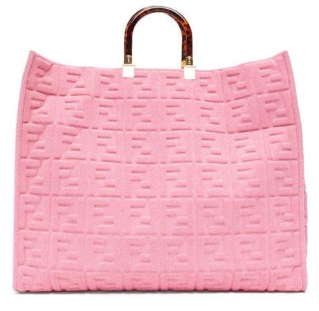 Pink Fendi Beach Bag