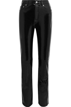 Helmut Lang | Patent-leather straight-leg pants | NET-A-PORTER.COM
