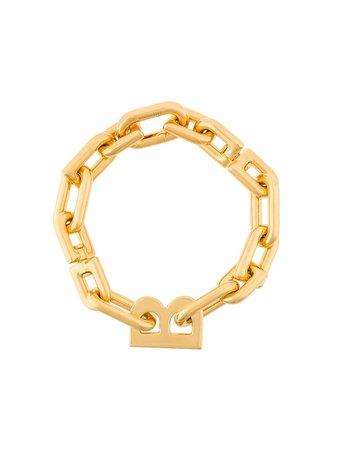Balenciaga B Chain Bracelet 599334TZ99G Gold | Farfetch