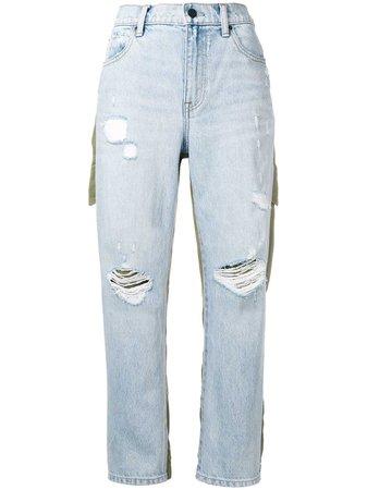 Alexander Wang Combined Cargo Denim Pants - Farfetch
