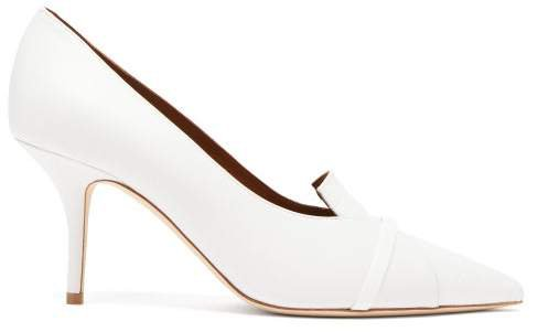 Dina Panelled Leather Pumps - Womens - White