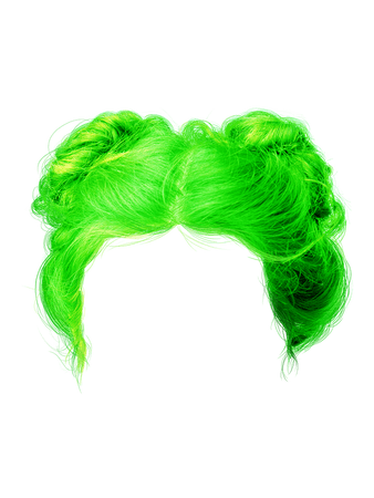 neon hair png Neon double bun
