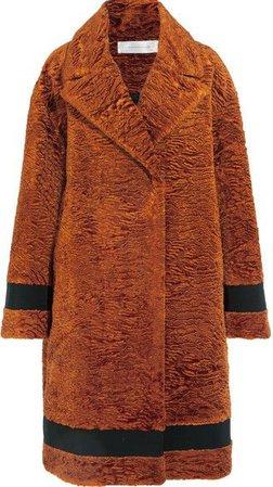 Victoria Beckham - Grosgrain-trimmed Textured-velvet Coat
