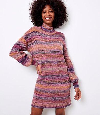 Spacedye Turtleneck Sweater Dress
