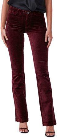 Manhattan Velvet Bootcut Pants