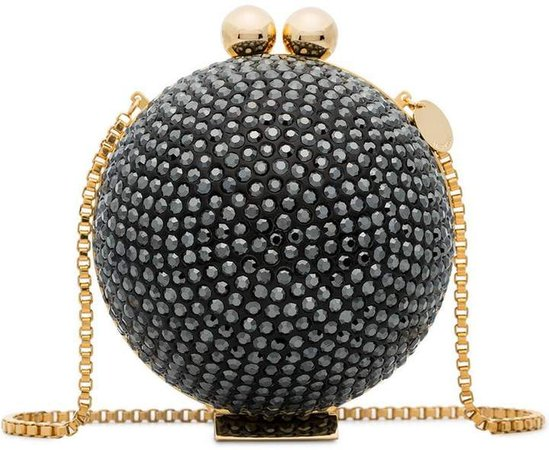 Marzook black crystal sphere clutch