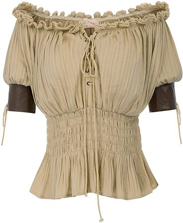 Renaissance Peasant Top Victorian Steampunk Blouse at Amazon Women's Clothing store