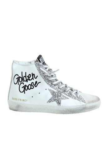 Golden Goose Francy Sneakers In White Leather