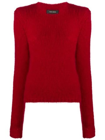 Shop red Isabel Marant Erin ribbed-edge jumper with Express Delivery - Farfetch