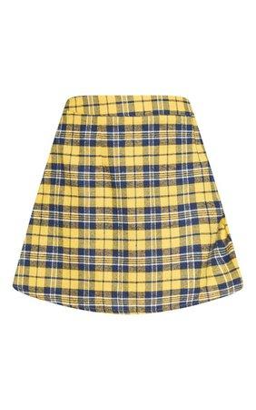 Grey Check A Line Mini Skirt   Skirts   PrettyLittleThing USA