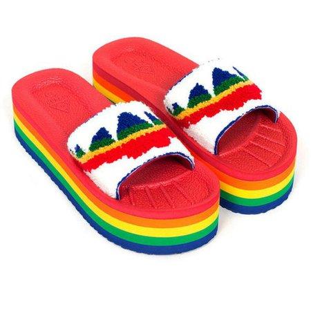 Unif Rainbow Crush Slides