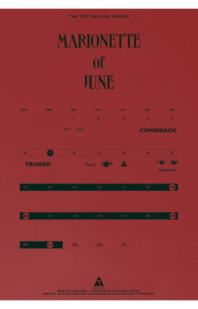 MARIONETTE 'CAN'T STOP ME' SCHEDULER