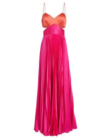 AMUR Elodie Colorblock Gown | INTERMIX®