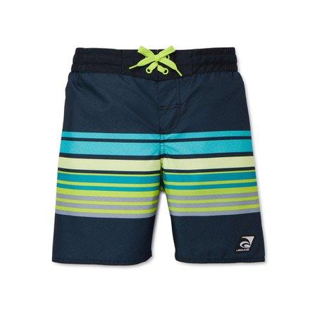 Laguna - Laguna Boys UPF 50+ Stripe Swim Trunk Shorts with Pocket, Sizes 8-20 - Walmart.com - Walmart.com