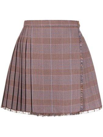 Acne Studios check pleated mini-skirt