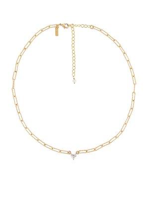 Natalie B Jewelry Carita Heart Necklace in Gold | REVOLVE