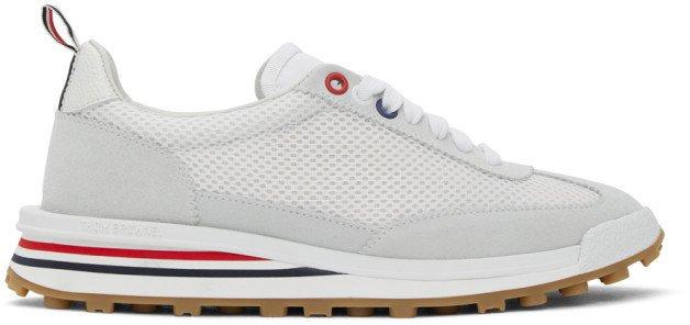 White Tech Runner Sneakers