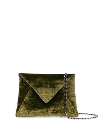 Green Tyler Ellis Mini Lee Clutch Bag | Farfetch.com