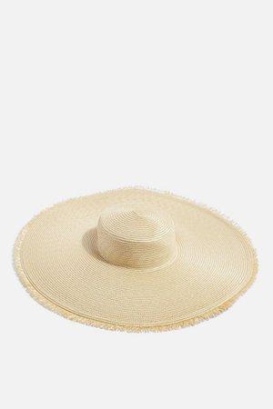 Frayed Oversized Straw Hat | Topshop