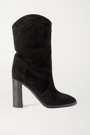 Kate Suede Ankle Boots - Black