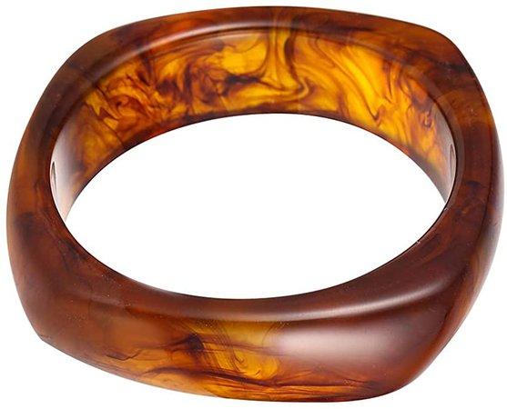 Amazon.com: Acrylic Resin Bangle Bracelet Wristbands Tortoiseshell Acetate Plate Cuff Bracelet Vintage Wide Irregular Geometric Plastic Bangle Bracelet for Women Teen Girl Jewelry-Brown: Jewelry