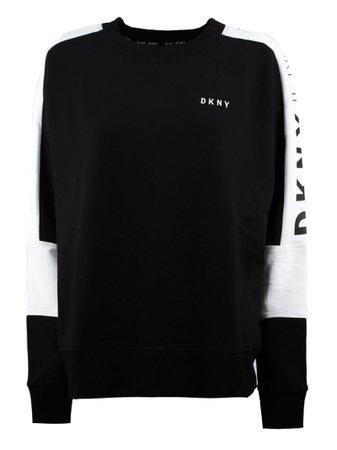 DKNY Black Cotton Blend Sweatshirt