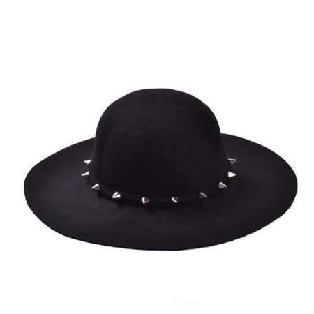 Black Wiccan Spiked Brim Hat