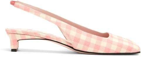 Gloria Gingham Slingback Pumps - Womens - Pink
