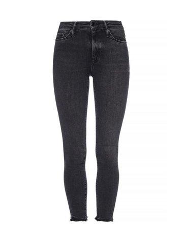 AllSaints Denim 'grace' Raw-trimmed Jeans in Grey (Gray)