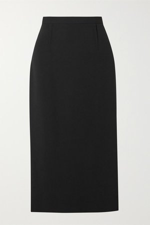 Arreton Crepe Pencil Skirt - Black