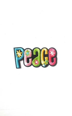 simplypatchco Peace Patch Iron On Clothing Patches Hippie Badges Earth | Etsy