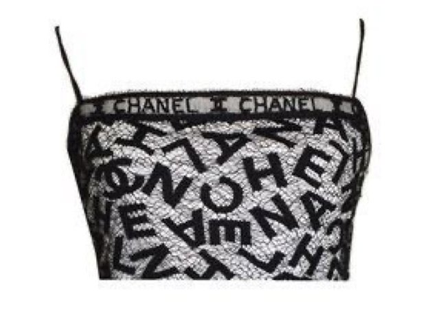 Chanel Black  Grey Crop Top