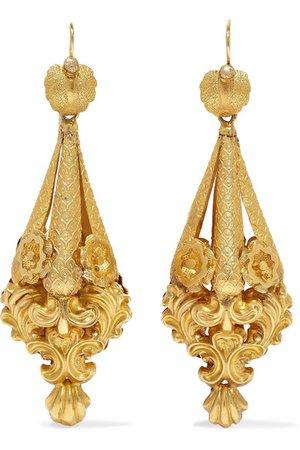 Fred Leighton | Victorian gold earrings | NET-A-PORTER.COM