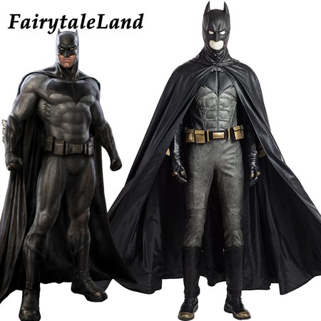 Justice League Batman cosplay Costume Superhero Halloween costumes for adult custom made cosplay Batman Costume leather suit-in Movie & TV costumes from Novelty & Special Use on Aliexpress.com | Alibaba Group
