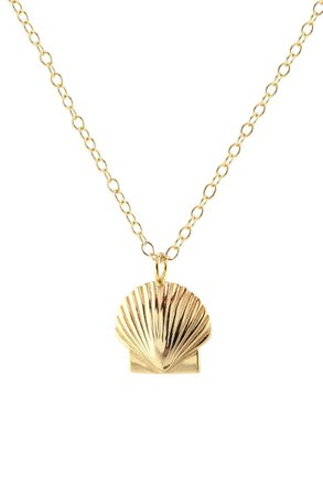 Kris Nations Female Shell Charm Necklace | Nordstrom
