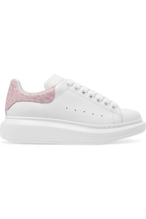 Alexander McQueen   Leather exaggerated-sole sneakers   NET-A-PORTER.COM