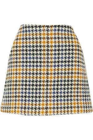 Alexander McQueen | Houndstooth wool-blend mini skirt