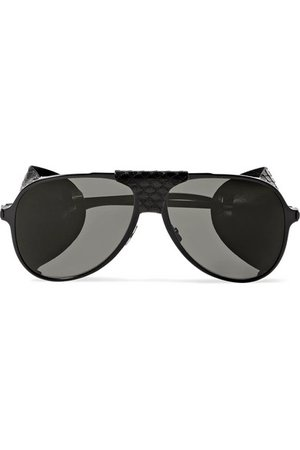Saint Laurent | Classic 11 aviator-style metal sunglasses | NET-A-PORTER.COM