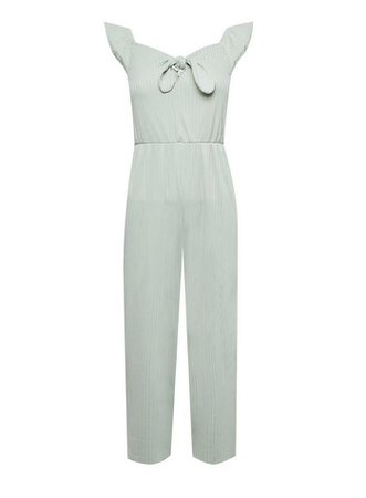 Green Tie Front Jumpsuit | Miss Selfridge