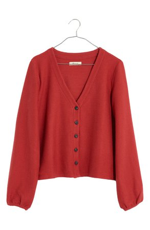 Madewell Texture & Thread Bubble-Sleeve Cardigan | Nordstrom