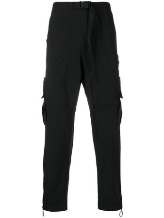 Off-White Straight-Leg Cargo Trousers OMCF004R20G380221001 Black | Farfetch