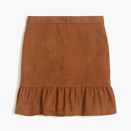 Faux-suede mini skirt